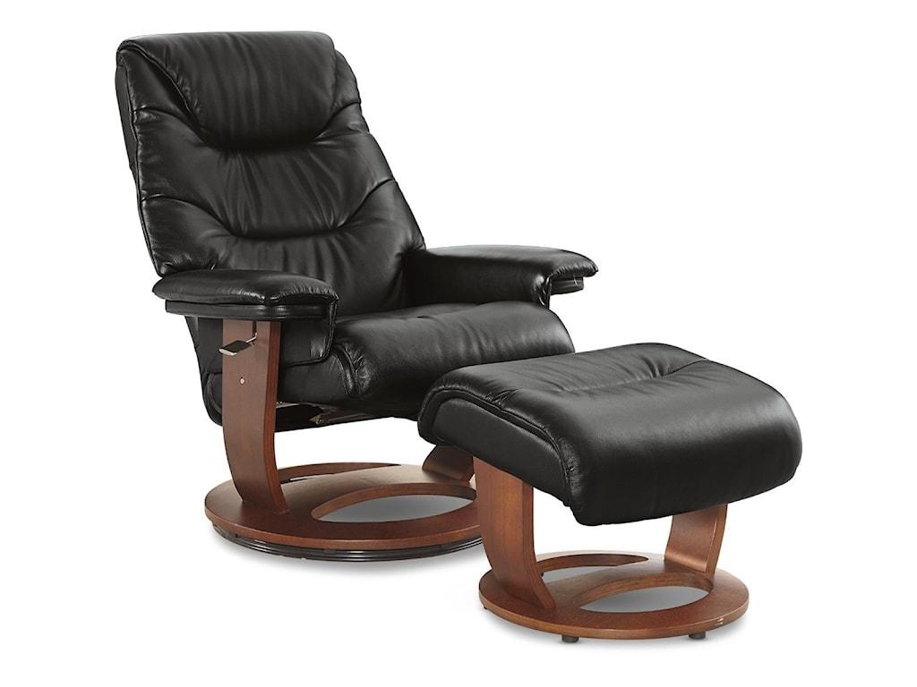 La-Z-Boy SteveLeather Pedestal Chair & Otto (Walnut)