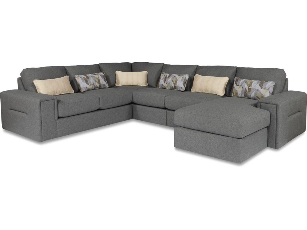 LaZBoy Structure Five Piece Modern Sectional Sofa With - La z boy chaise sofa