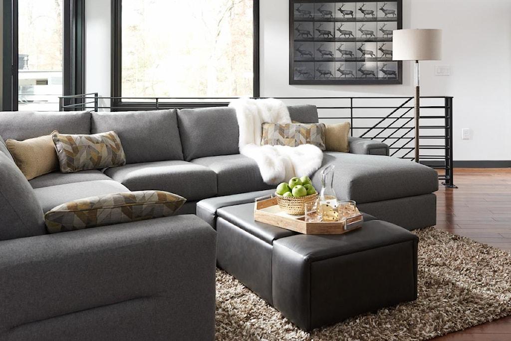 La Z Boy Structure Five Piece Modern Sectional Sofa With  ~ Five Piece Sectional Sofa