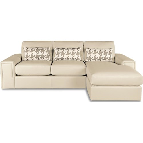 La Z Boy Structure Two Piece Modern Sectional Sofa With Architectural Lines And RAF