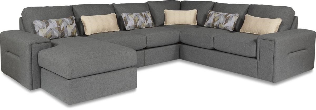 La-Z-Boy Structure Five Piece Modern Sectional Sofa with Architectural Lines and LAF Chaise - Zaku0027s Fine Furniture - Sofa Sectional  sc 1 st  Zaku0027s Fine Furniture : lazy boy sectional sofas - Sectionals, Sofas & Couches