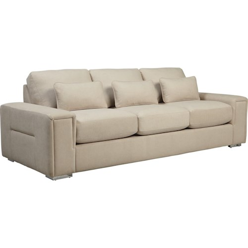 La-Z-Boy Structure Modern Sofa with Architectural Lines and Premier ComfortCore Cushions