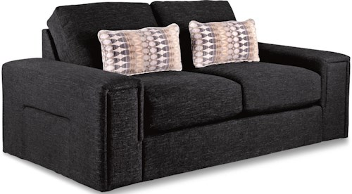 La-Z-Boy Structure Modern Apartment-Size Sofa with Architectural Lines and Premier ComfortCore Cushions