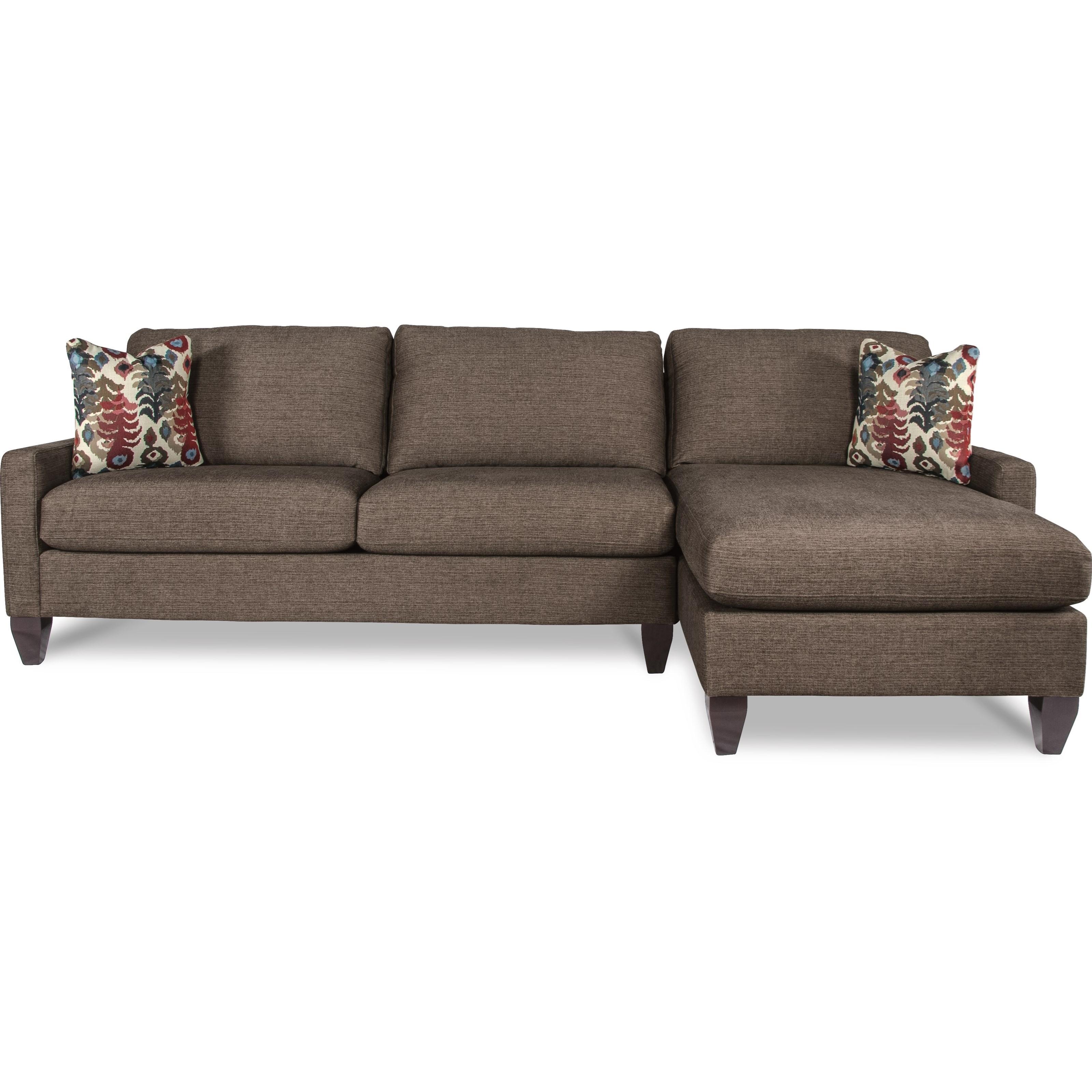 la z boy studio contemporary two piece sectional sofa w raf chaise rh morrisathome com Cuddle Circle Lounge with Chaise Corduroy Furniture La Z Boy Recliner Springs