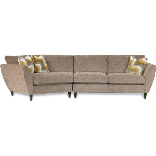 La-Z-Boy Tribeca Contemporary Two Piece Sectional Sofa with RAS Cuddler
