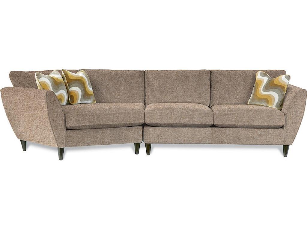 La-Z-Boy Tribeca2 Pc Sectional Sofa with RAS Cuddler
