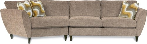 La-Z-Boy Tribeca Contemporary Two Piece Sectional Sofa with RAS Cuddler