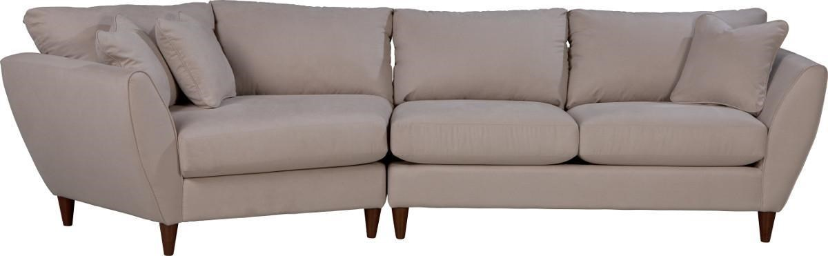 Elegant La Z Boy Tribeca Contemporary Two Piece Sectional Sofa With RAS Cuddler   Conlinu0027s  Furniture   Sectional Sofas