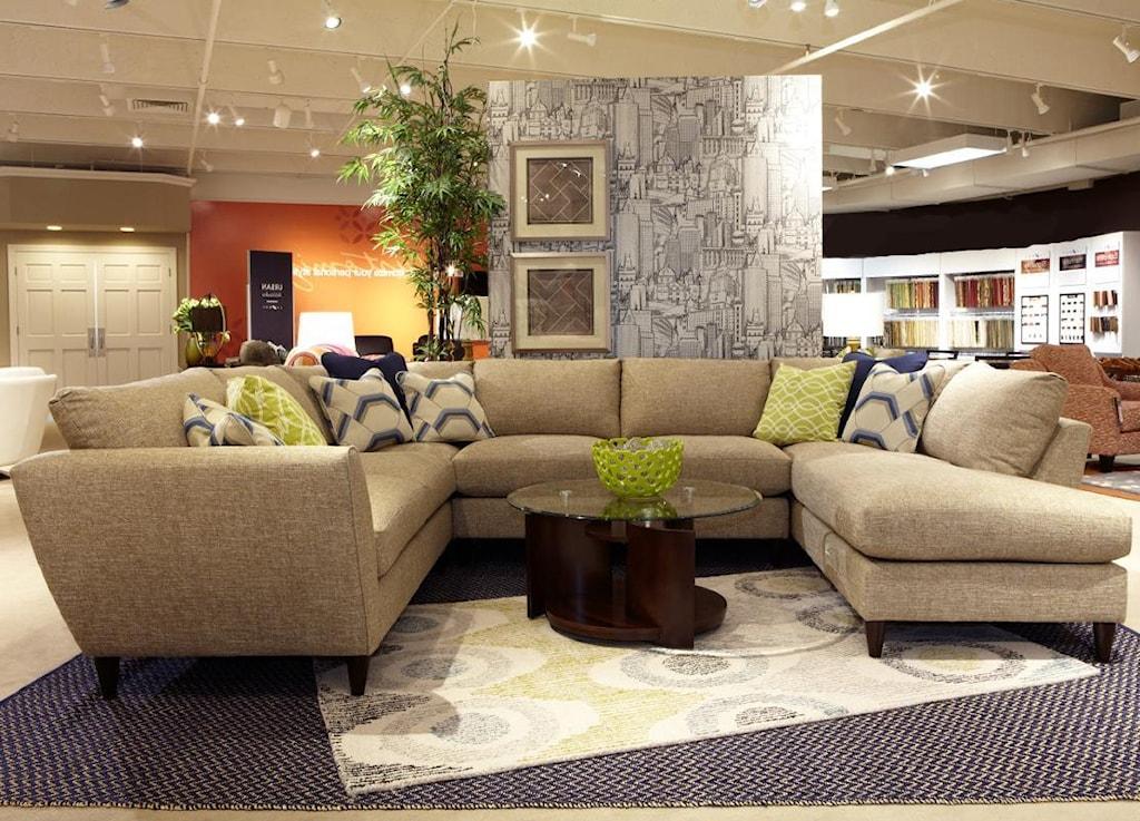 La Z Boy Tribeca Contemporary Five Piece Sectional Sofa With Las  ~ Five Piece Sectional Sofa
