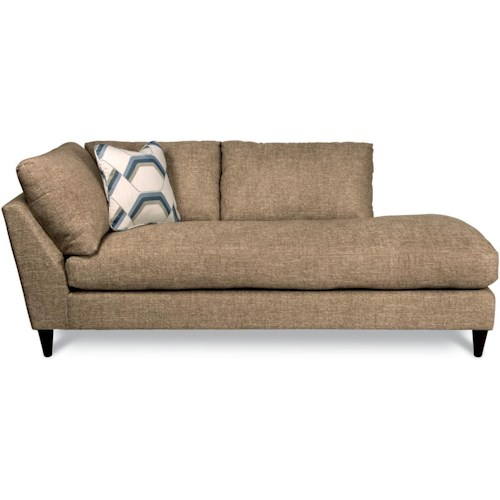 La-Z-Boy Tribeca Contemporary Left Arm Sitting Chaise Lounge with Toss Pillow