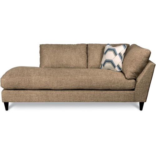 La-Z-Boy Tribeca Contemporary Right Arm Sitting Chaise Lounge with Toss Pillow