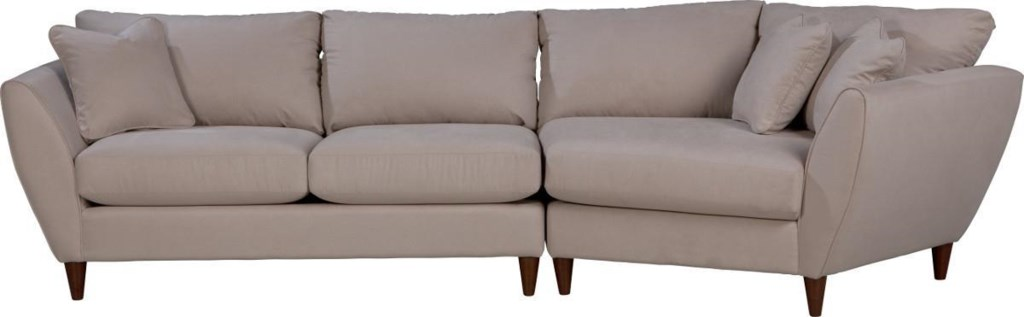 La-Z-Boy Tribeca Contemporary Two Piece Sectional Sofa With LAS Cuddler -  Great American Home Store - Sectional Sofas