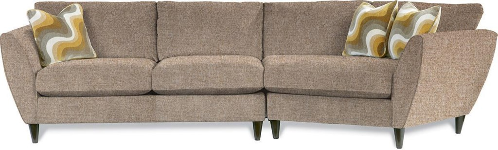 La Z Boy Tribeca Contemporary Two Piece Sectional Sofa With Las  ~ Sectional Sofa With Cuddler