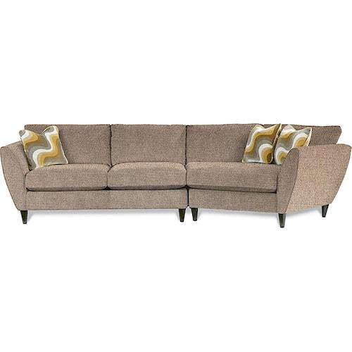 La-Z-Boy Tribeca Contemporary Two Piece Sectional Sofa with LAS Cuddler