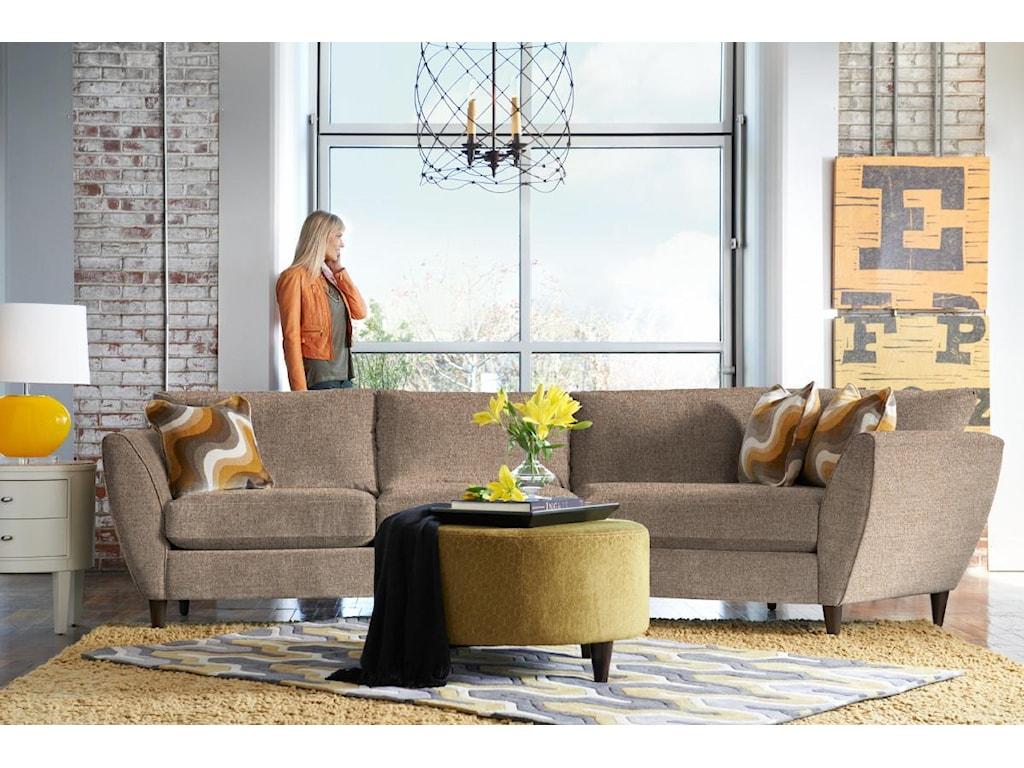 La Z Boy Tribeca2 Pc Sectional Sofa With Las Cuddler