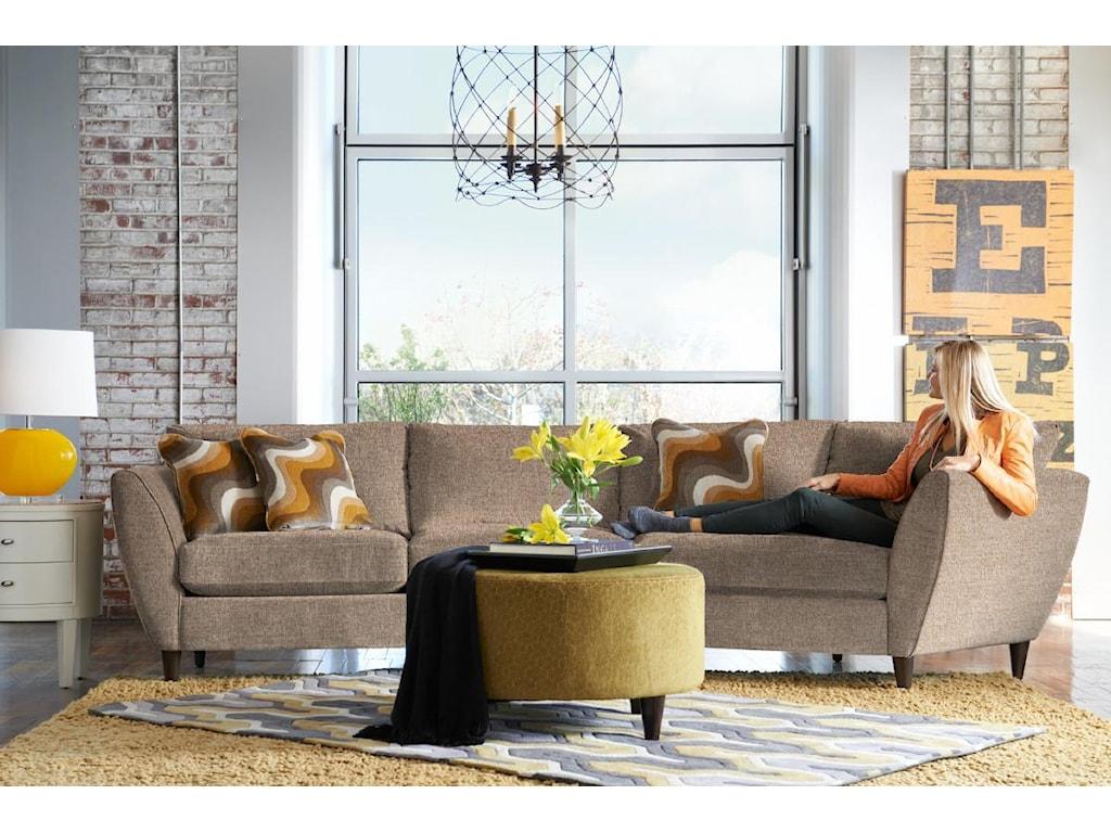 La-Z-Boy Tribeca2 Pc Sectional Sofa with LAS Cuddler