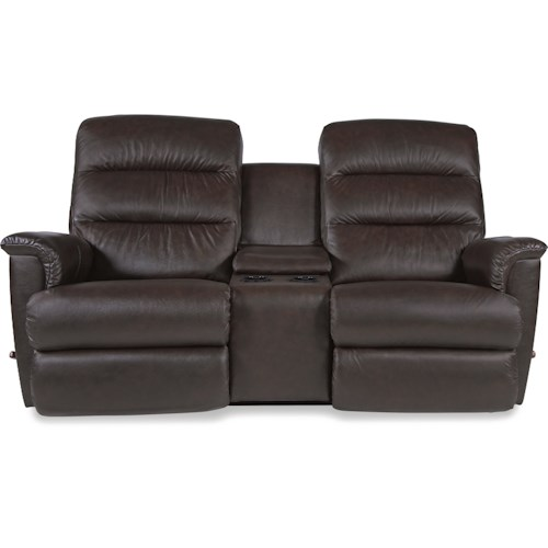 La z boy tripoli wall saver reclining loveseat with cupholder and storage console conlin 39 s - Ways of accessorizing love seats ...