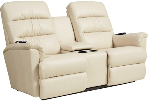 La-Z-Boy Tripoli Power-Recline-XRw+ Wall Saver Reclining Console Loveseat with Power Tilt Headrest and Lumbar