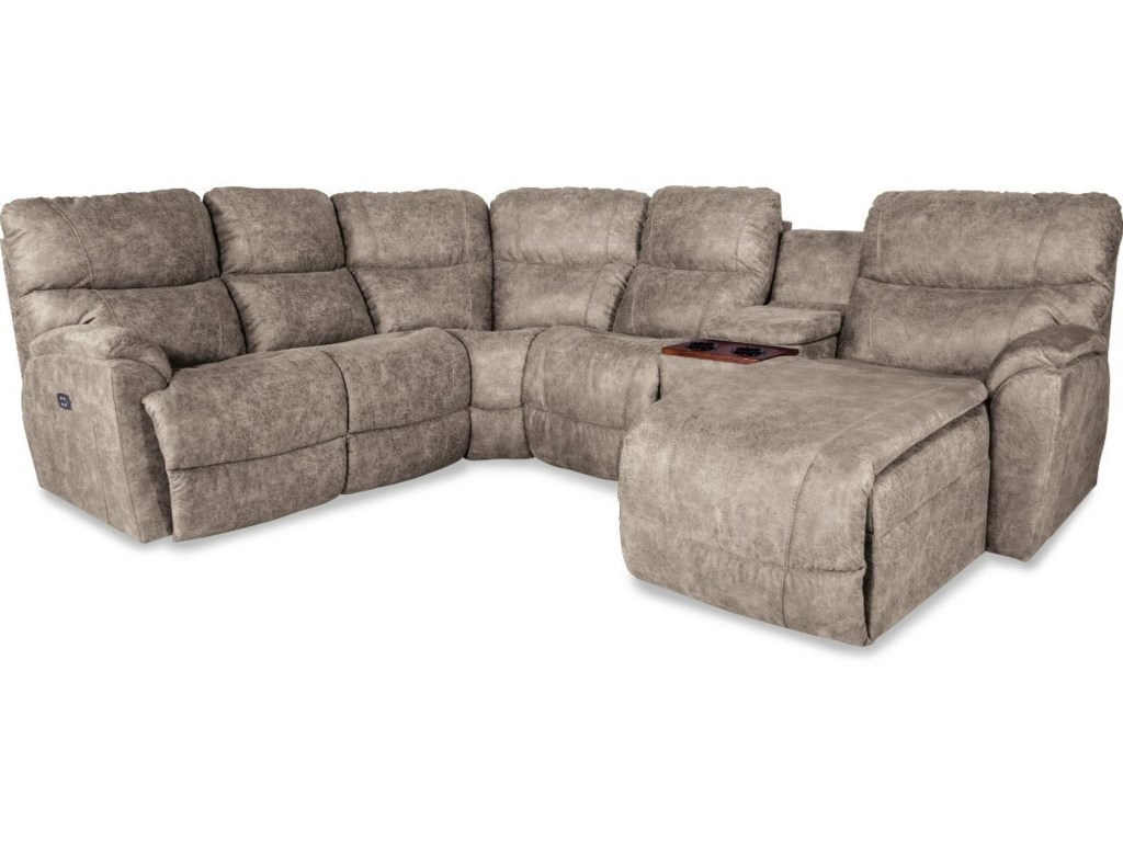 La-Z-Boy Trouper Five Piece Power Reclining Sofa with Left Sitting ...