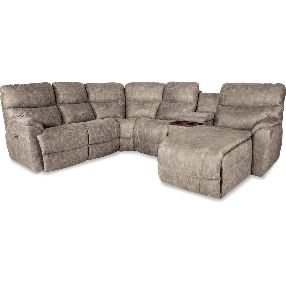 La Z Boy Trouper5 Pc Pwr Reclining Sofa W/ LAS Chaise
