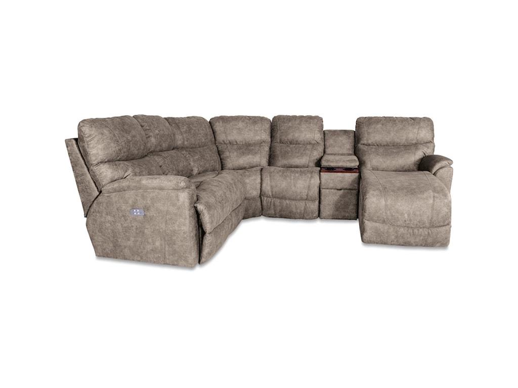 La-Z-Boy Trouper5 Pc Pwr Reclining Sofa w/ LAS Chaise