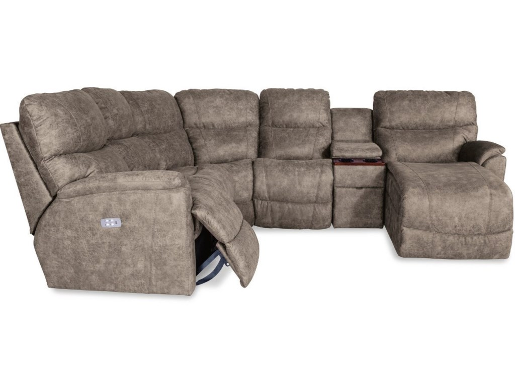 La-Z-Boy Trouper5 Pc Pwr Reclining Sofa w/ LAS Chaise