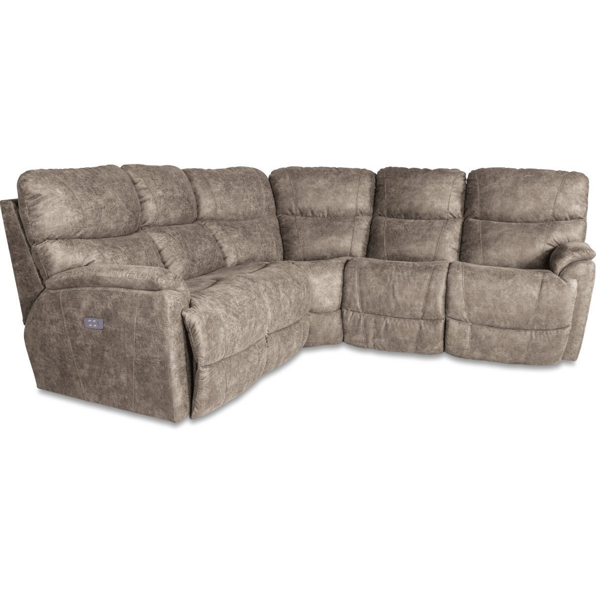 La Z Boy Trouper3 Pc Reclining Corner Sectional Sofa