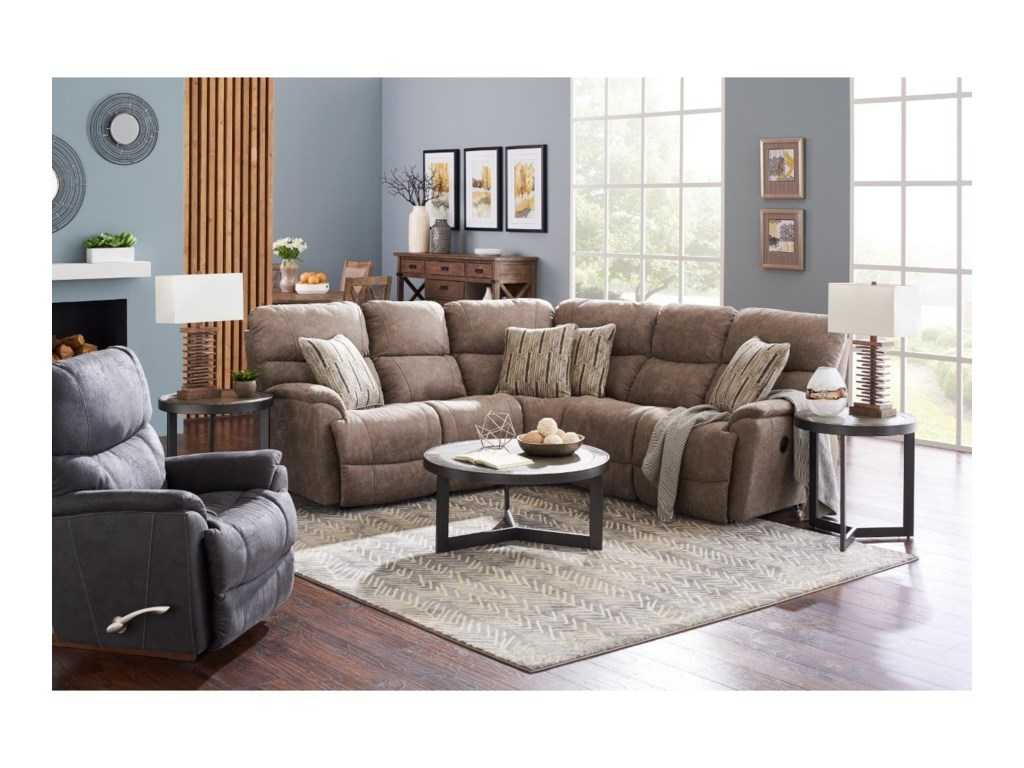 La-Z-Boy Trouper3 Pc Power Reclining Corner Sectional Sofa
