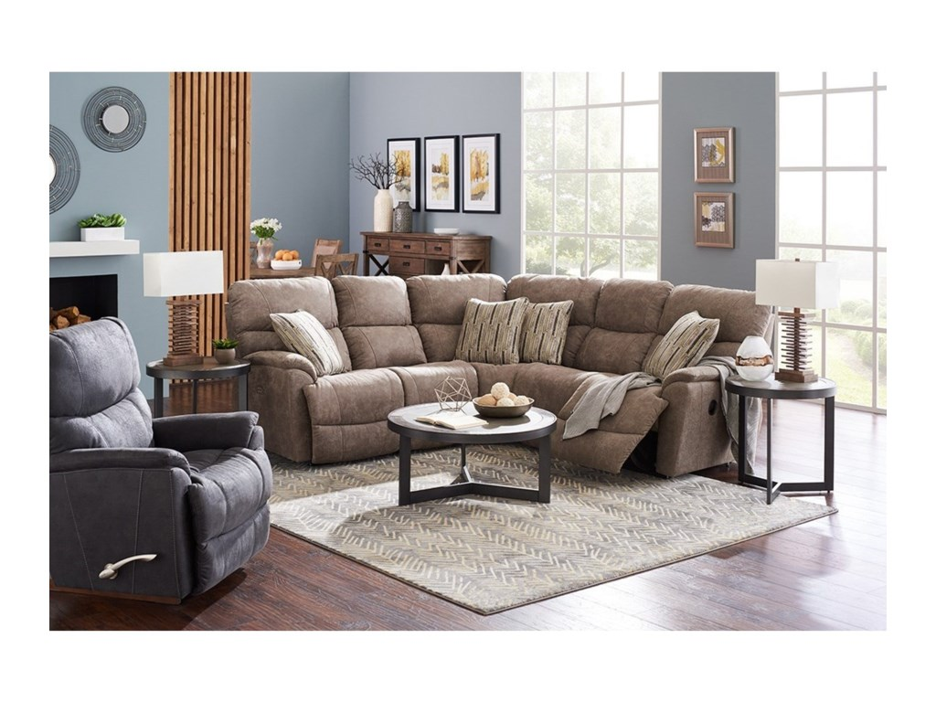 La-Z-Boy Trouper3 Pc Reclining Corner Sectional Sofa