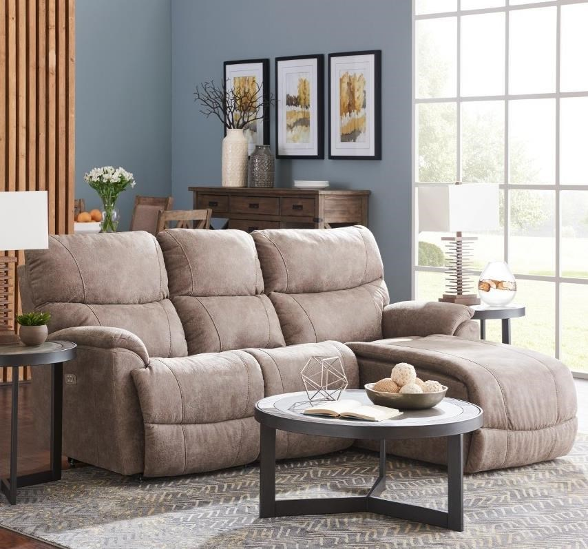 La Z Boy Trouper2 Pc Reclining Sectional Sofa W/ LAS Chaise