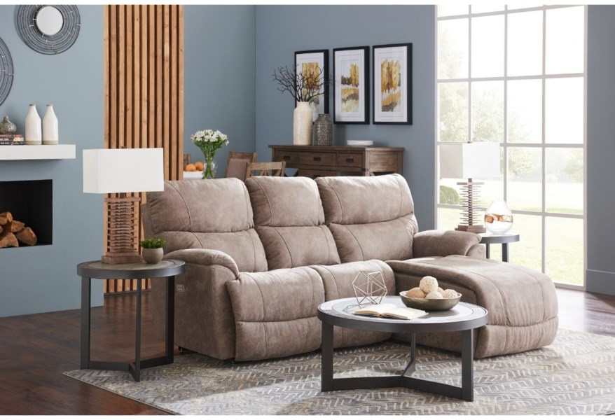 La-Z-Boy Trouper Two Piece Reclining Sectional Sofa with ...