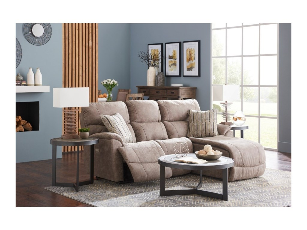 La-Z-Boy Trouper2 Pc Pwr Reclining Sofa w/ LAS Chaise