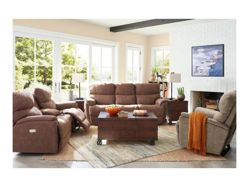 La-Z-Boy TrouperPower La-Z-Time Reclining Sofa w/ Pwr Head