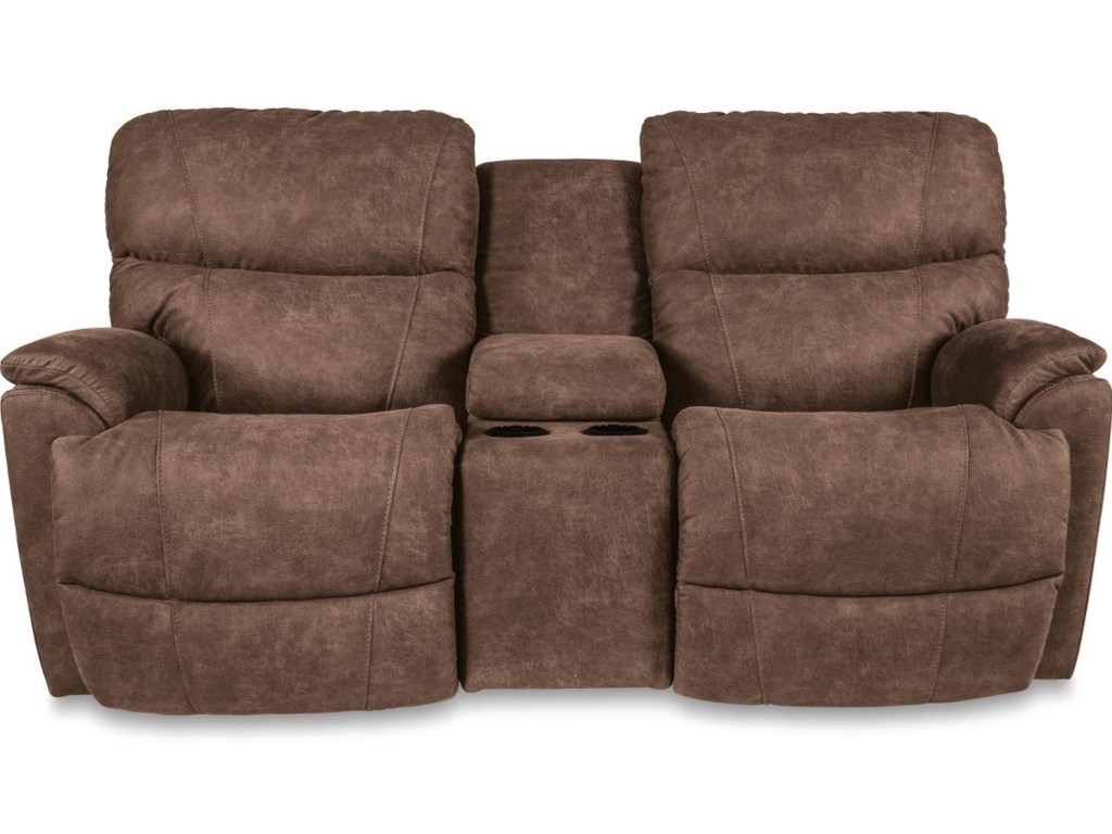 La Z Boy Trouper Power Reclining Loveseat With Cupholder Storage