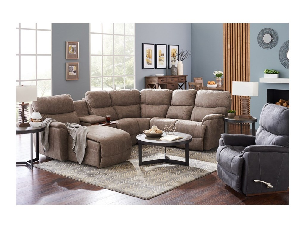La-Z-Boy Trouper5 Pc Reclining Sofa w/ Right Sitting Chaise