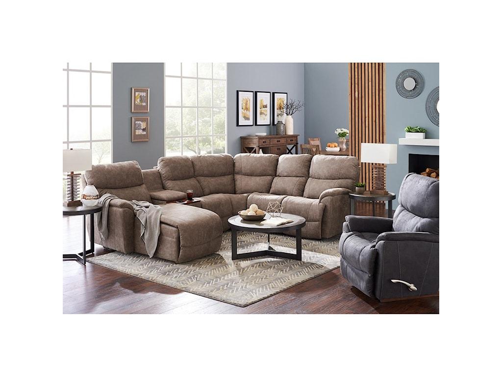 La-Z-Boy Trouper5 Pc Pwr Reclining Sofa w/ RAS Chaise