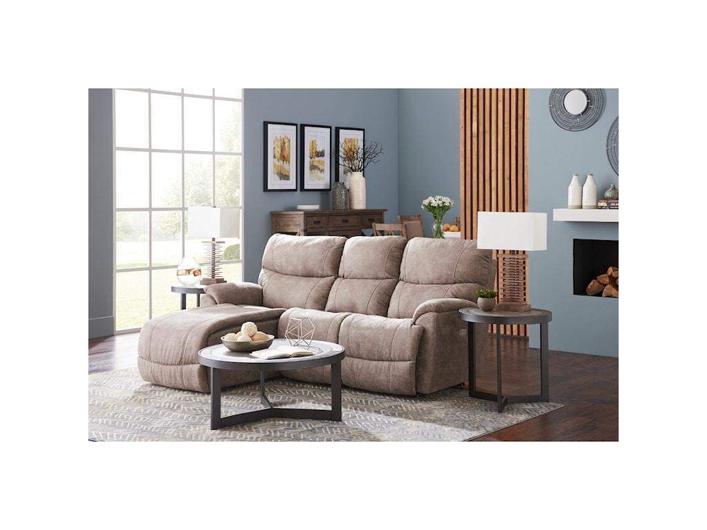 La-Z-Boy Trouper2 Pc Reclining Sectional Sofa w/ RAS Chaise