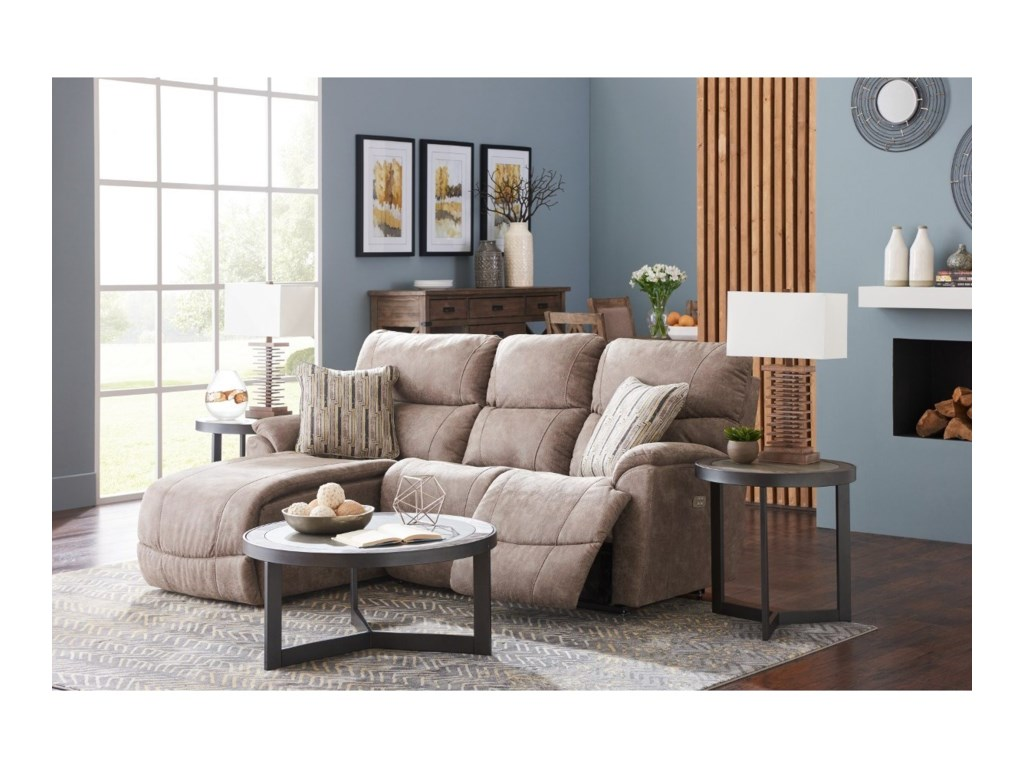 La-Z-Boy Trouper2 Pc Reclining Sectional Sofa w/ RAS Chaise