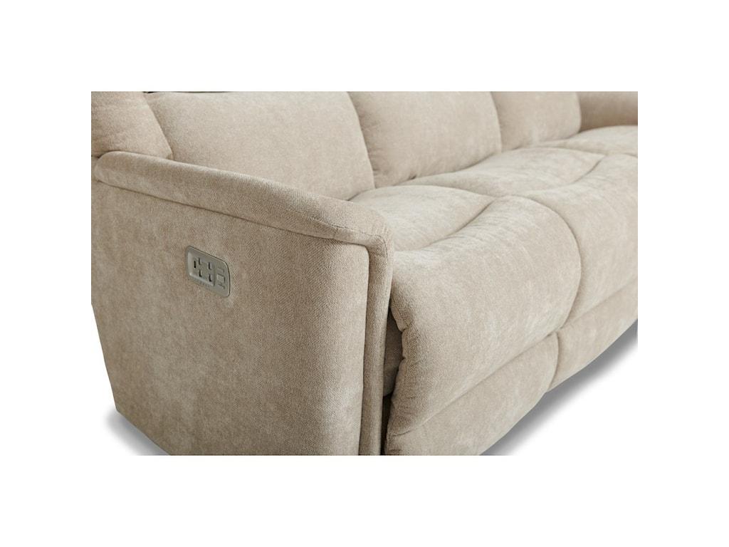 La-Z-Boy TurnerPower Wall Reclining Sofa w/ Headrest & Lumb