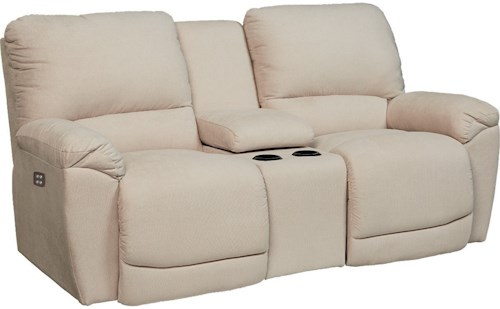 La-Z-Boy Tyler Casual Power La-Z-Time® Full Reclining Loveseat with Center Console and Cup Holders