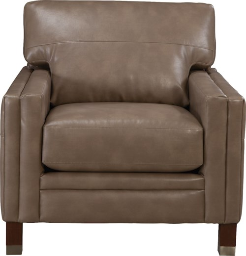 La-Z-Boy UPTOWN Contemporary Premier Chair with Modern Metal-Capped Legs
