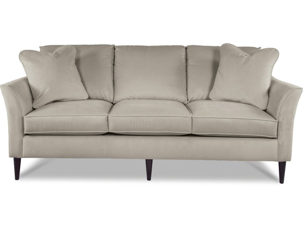 Violet Contemporary Sofa with Flared Arms and ComfortCore Cushions by  La-Z-Boy at Rotmans