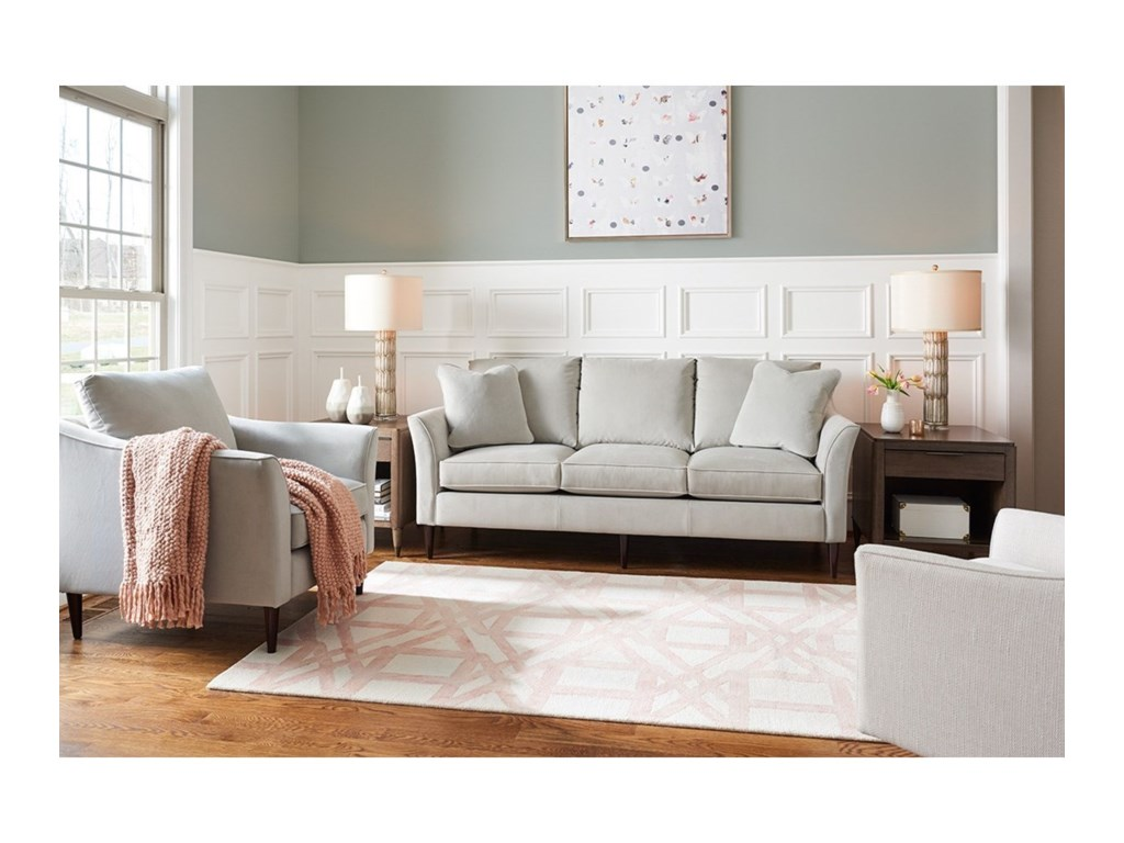 La-Z-Boy Violet Contemporary Sofa with Flared Arms and ComfortCore ...
