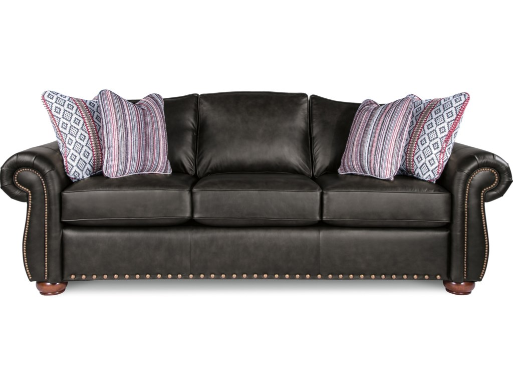 La-Z-Boy Wales Traditional Sofa with Rolled Arms and Two Sizes of ...
