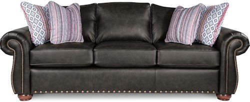 La-Z-Boy Wales Traditional Sofa with Rolled Arms and Two Sizes of Nailheads
