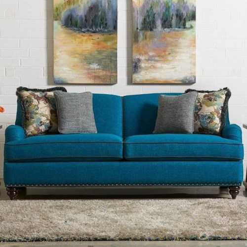 La Z Boy York Traditional Sofa With Premier Comfortcore Cushions
