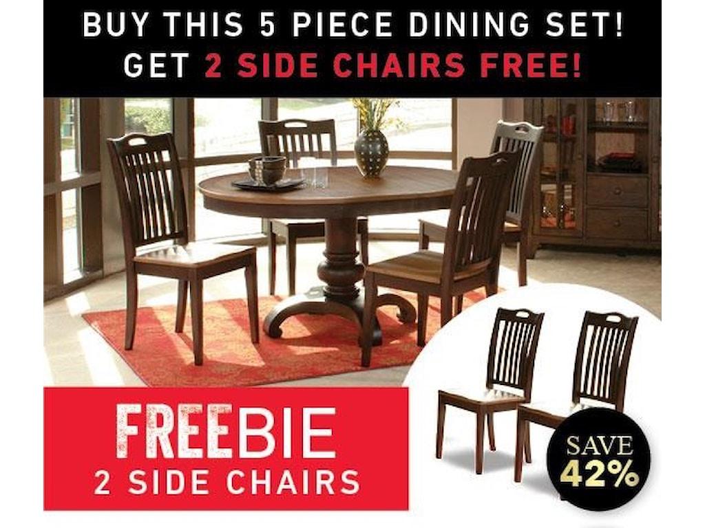 Morris Home Furnishings GraftonGrafton 5 Piece Dining Set with Freebie