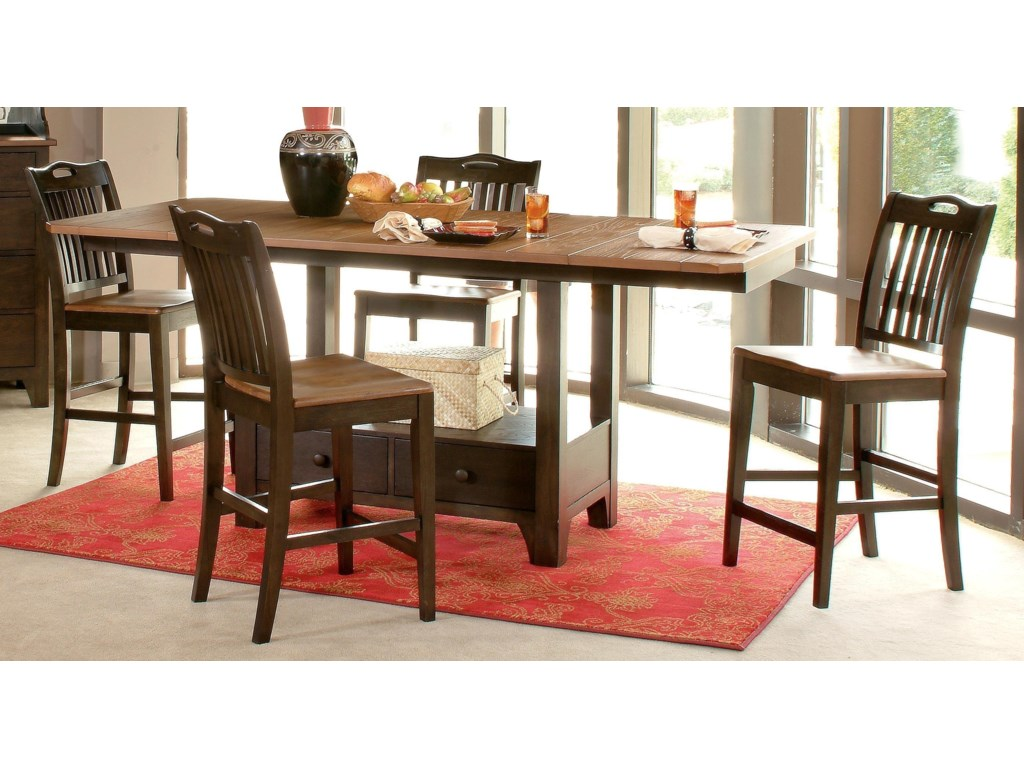 Morris Home Furnishings GraftonGrafton 5 Piece Counter Dining Set