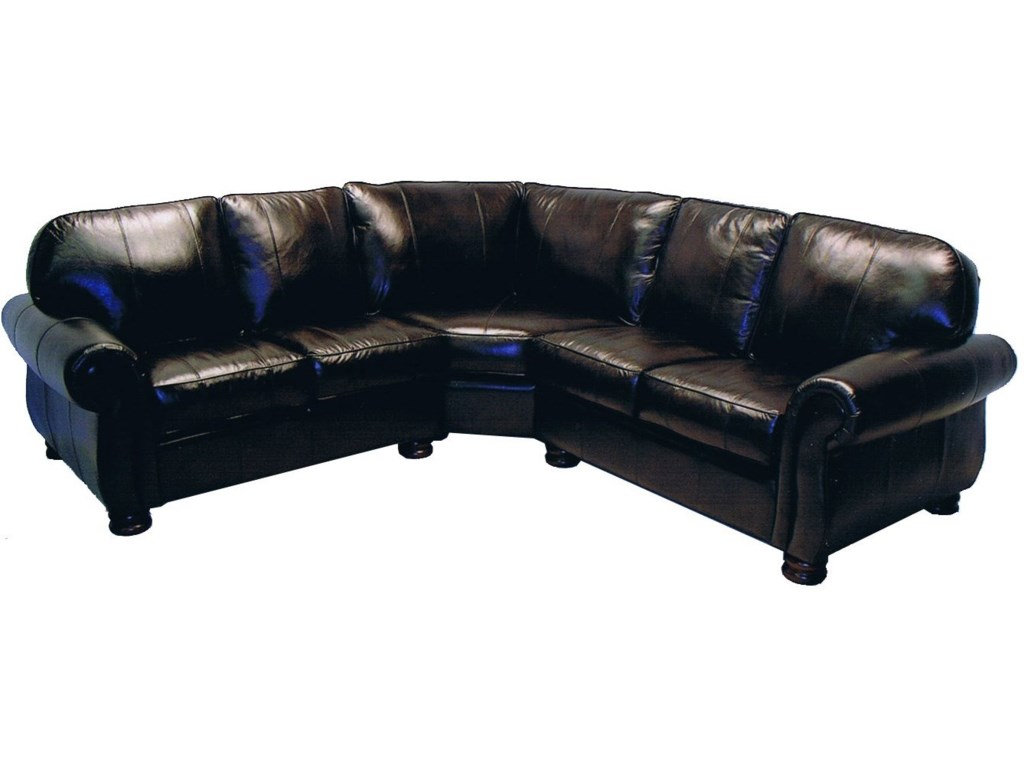 LaCrosse 8611Leather Sectional