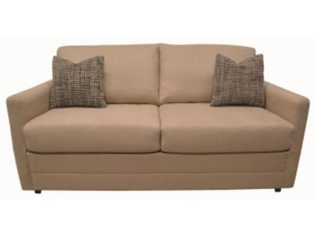 "Brigade Brigade 5"" Memory Foam Full Sleeper Sofa by LaCrosse"
